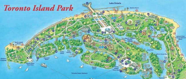 Mapa de Toronto Islands